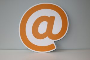 white and orange email